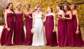 fall bridesmaid dresses bridesmaid dresses in fall burgundy wedding being a