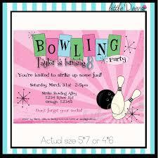 Kids Birthday Party Invitation Card Bowling Birthday Party Invitations Kawaiitheo Com