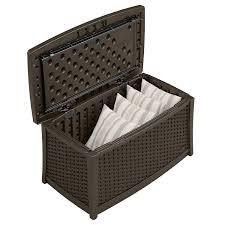 Patio Storage Chest by Details About Garden Furniture Storage Box Plastic Lockable