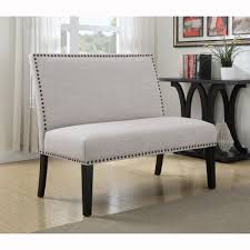 Threshold Settee Bench by Benches For Dining Table Upholstered Banquette Nailhead Trim Room