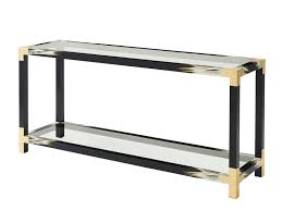 theodore alexander console table console table furniture enchanting rectangular tempered glass