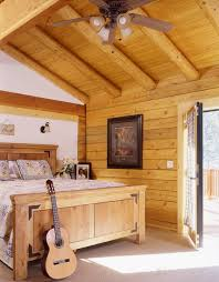 Log Home Bedrooms Flooring Options For Log Homes Real Log Homes