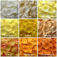 Silk Rose Petals Yellow Rose Petals Yellow Silk Rose Petals Mix U0026 Match Colors