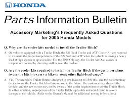 2006 honda pilot trailer hitch genuine honda odyssey accessories exterior accessories factory