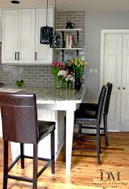 Kitchen Island With Open Shelves Add Open Shelves To The End Of The Cabinets Extend Backsplash To