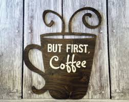 wooden coffee wall coffee bar wall sign cutout only no backboard kitchen