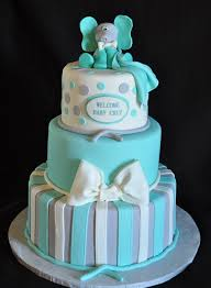 teal and gray baby shower cake pink or purple and gray for a