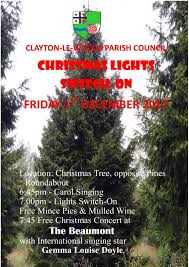 clayton tree lighting 2017 christmas tree switch on and concert at the beaumont
