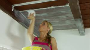 how to whitewash a ceiling video hgtv