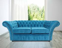 Fabric Chesterfield Sofa Buy Teal Fabric Chesterfield Sofa At Designersofas4u