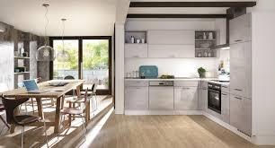 cuisine hetre clair cuisine riva 892 décor gris béton bernay habitat cuisine