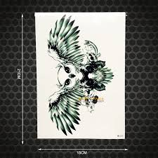 1pc 3d fashion designs owl flash temporary removable
