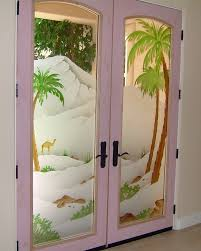 Glass Designs For Kitchen Cabinet Doors by Frosted Glass Doors Tree Designs Sans Soucie Art Glass