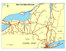 Map Of State Of New York by New York State Railroad Map New York Map