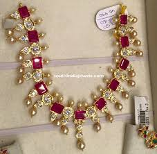 gold pearls necklace images Gold ruby pearl necklace south india jewels jpg