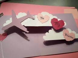 pop up card tutorial how to make valentine u0027s day airplane w heart