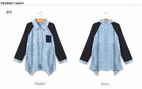summer denim shirt for girls baby blouse age 5 6 7 8 9 10 11