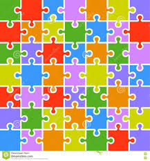 jigsaw puzzle color parts template 7x7 pieces royalty free stock