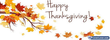 happy thanksgiving autumn leaves holidays and celebrations