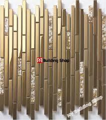 metal wall tiles kitchen backsplash gold metal mosaic wall tile kitchen backsplash ssmt310 glass shell