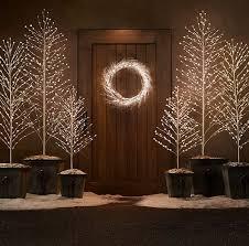 sparkling led trees light up trees