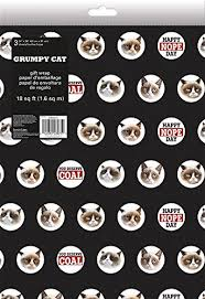 grumpy cat wrapping paper sandylion grumpy cat folded gift wrap arts crafts sewing