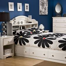 Full Size White Storage Bed With Bookcase Headboard Sparkling Bookcase Storage Platform Bed Hayneedle