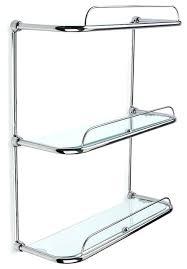 Glass Shelves For Bathroom Wall Chrome Shelves For Bathroom Ccode Info