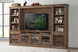3 door display cabinet 3 door tv console with beveled glass doors by riverside furniture
