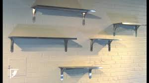home and office decor stylish stainless steel shelves add flair to home and office décor