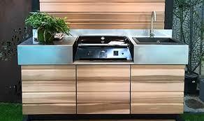 cuisine d été fabricant cuisine d été meuble plancha cuisine extérieure inox