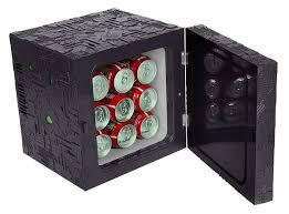 frigo de bureau trek borg cube fridge le mini bar du capitaine kirk