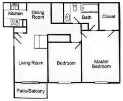 apartment 1 bedroom apartment plans