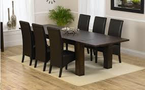 black wooden dining table set black wooden dining table and chairs modern home design