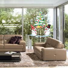 home decor brand winter christmas shop window display color white snowman christmas