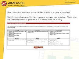 aimsweb benchmark online training for aimsweb teacher users ppt
