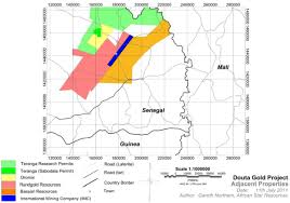 Dakar Senegal Map Douta Project Senegal Thor Explorations Ltd