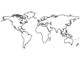 Simple Blank World Map by World Clipart Black And White Transparent Background Collection