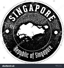 singapore vintage style country stamp stock vector 558936586