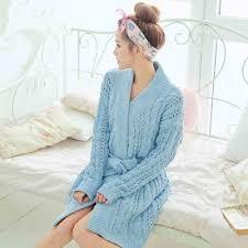 robe de chambre pour fille très classe solide fille robe de chambre maison manteau
