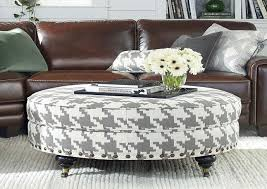 Oversized Ottoman Coffee Table Coffee Table Ottoman Tufted Fabric Regarding Elegant White