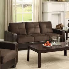 Brown Faux Leather Sofa Shop Furniture Of America Laverne Casual Brown Espresso Faux