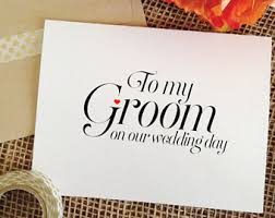 card for groom from groom card etsy