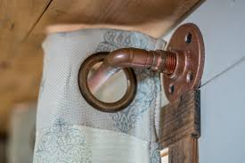 copper curtain rods easy diy for tiny home interior design