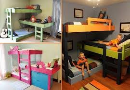 Three Bed Bunk Bed Bunk Bed Design Ideas Home Design Garden Architecture