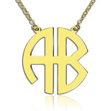 gold plated monogram necklace gold plated 2 letters capital monogram necklace
