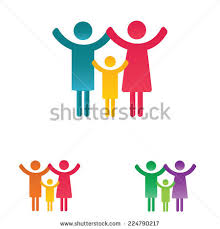royalty free big set of family icons happy family 131349806 stock