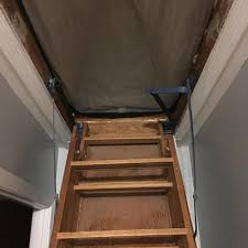 duck brand attic stairway cover black seals up to 25 5