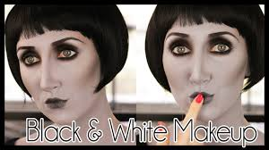 grayscale black u0026 white effect halloween makeup tutorial youtube