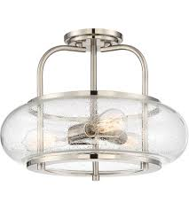 Quoizel Flush Mount Ceiling Light Quoizel Trg1716bn Trilogy 3 Light 16 Inch Brushed Nickel Semi